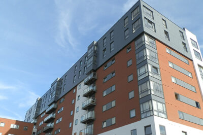 EWI Reclad, TRS Apartments