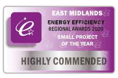 Highly Commended at Energy Efficiency Awards
