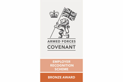 Bronze Award from the Defence Employer Recognition Scheme
